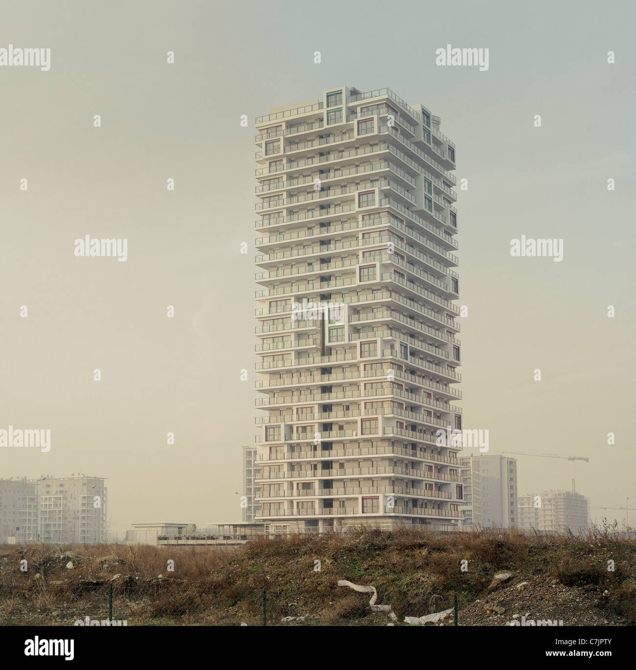 High-rise apartment building - Stock Image