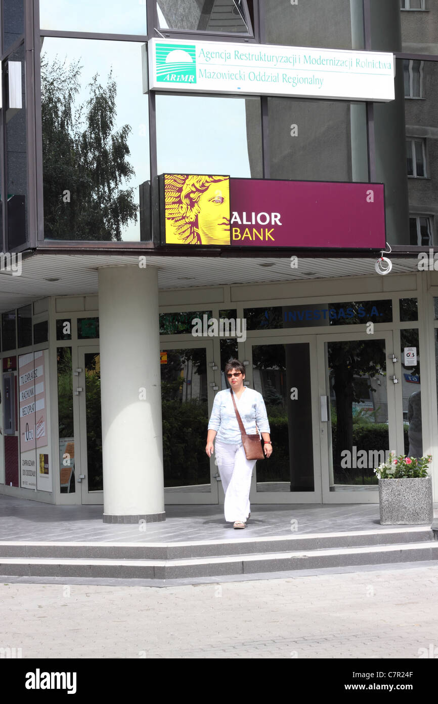 Alior Bank branch in Warsaw Poland - Stock Image