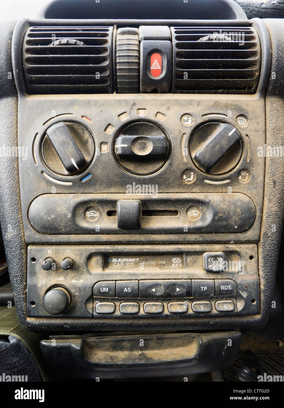 a very dirty car interior and dashboard stock photo 39262789 alamy. Black Bedroom Furniture Sets. Home Design Ideas