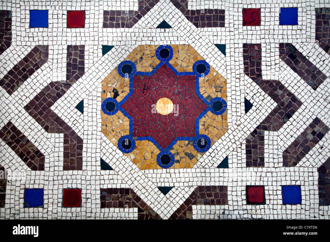 Milan - detail from floor of Vittorio Emanuel galleria - Stock Image