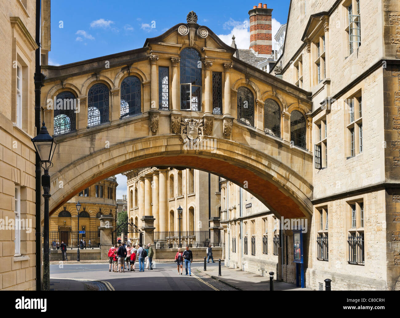 Oxford University. The Hertford Bridge (commonly 'The Bridge of Sighs') on New College Lane, Oxford, Oxfordshire, - Stock Image