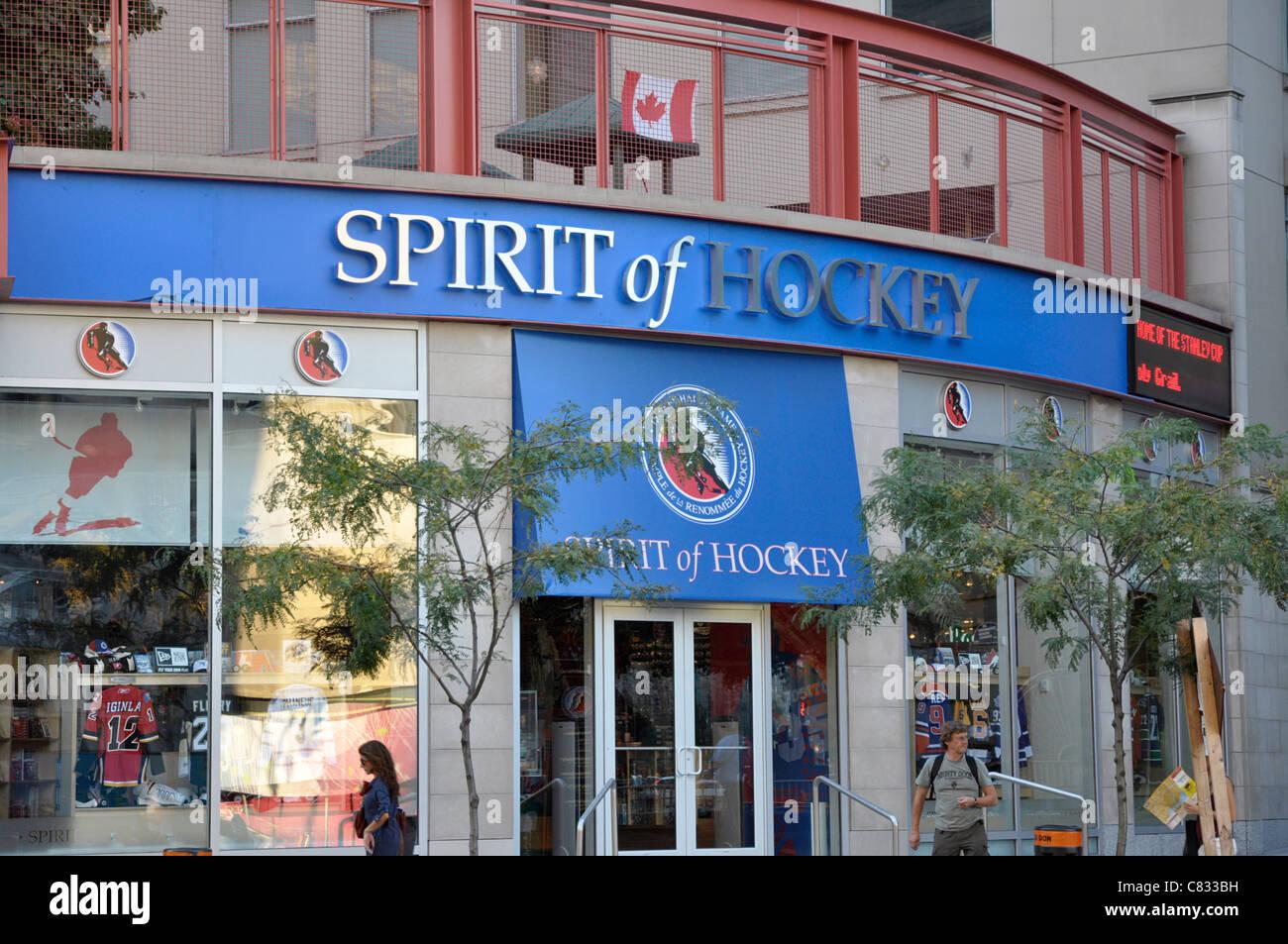 Spirit of Hockey Store, beside the Hockey Hall of Fame, Toronto - Stock Image