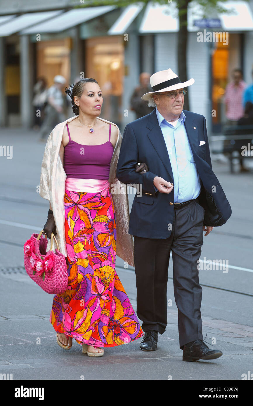 wealthy couple - Stock Image