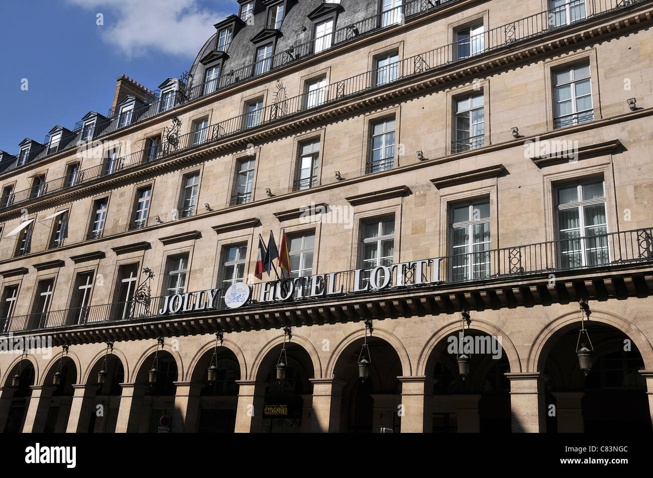 Jolly Hotel Lotti Paris France - Stock Image