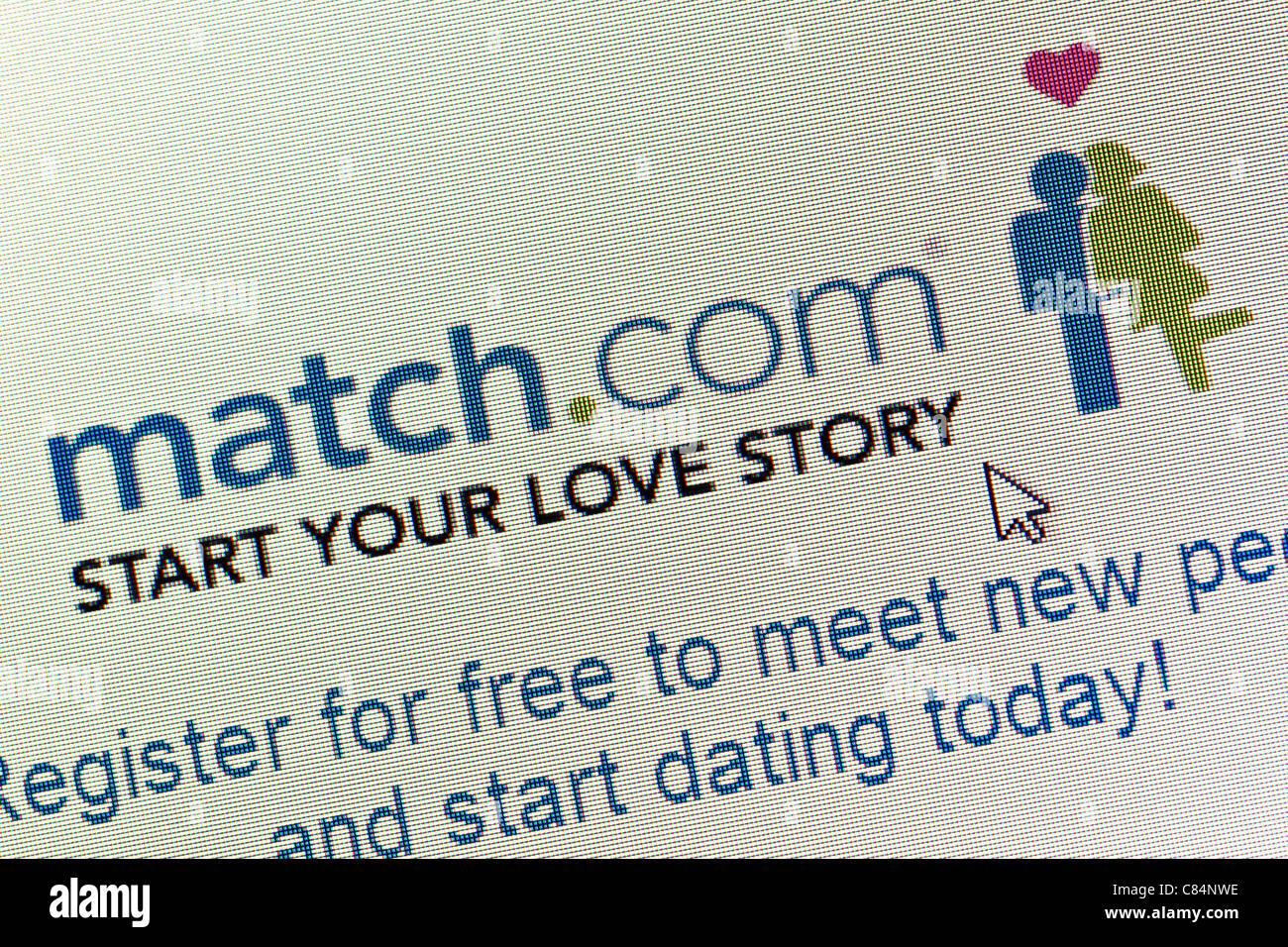 Match.com logo and website close up - Stock Image