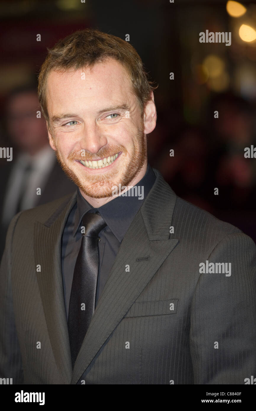 Michael Fassbender at the BFI 55th Film Festival. Red carpet premier of the movie Shame. - Stock Image