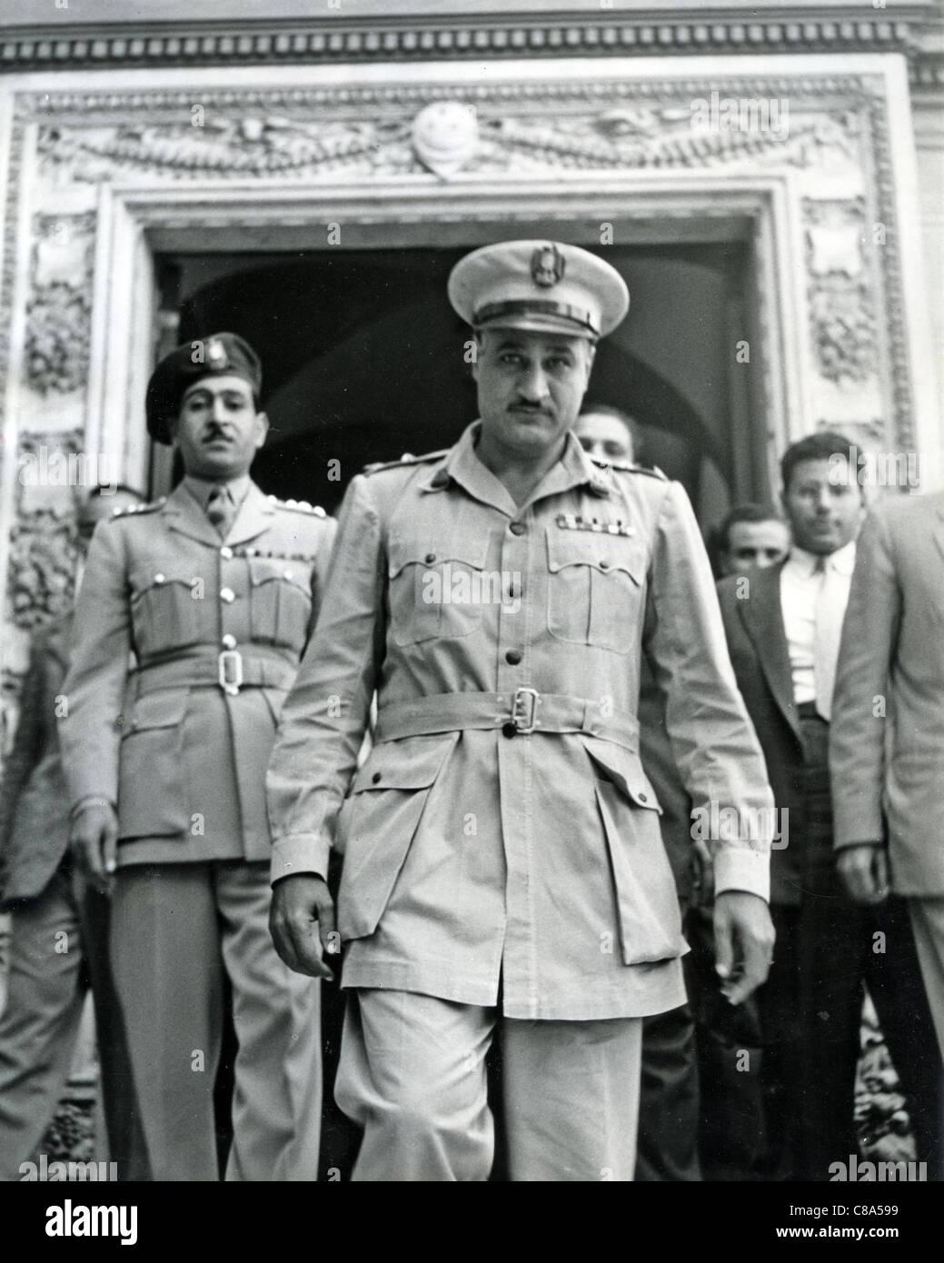 GAMAL ABDEL NASSER (1918-1970) second President of Egypt about 1952 - Stock Image