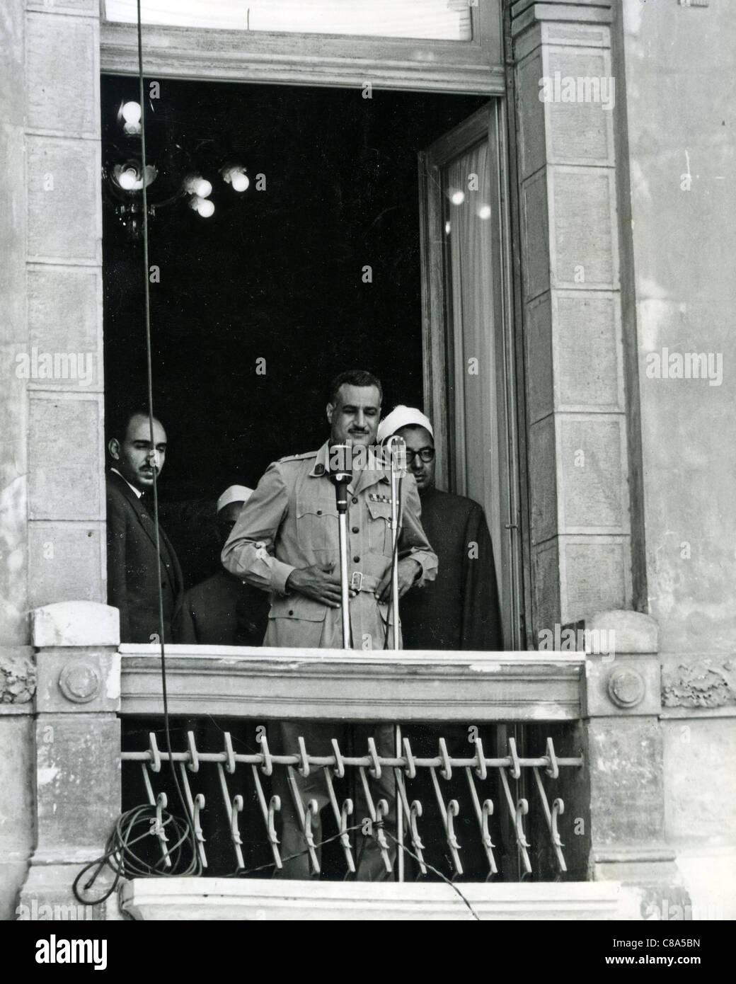 GAMAL ABDEL NASSER (1918-1970) second President of Egypt about 1951 - Stock Image