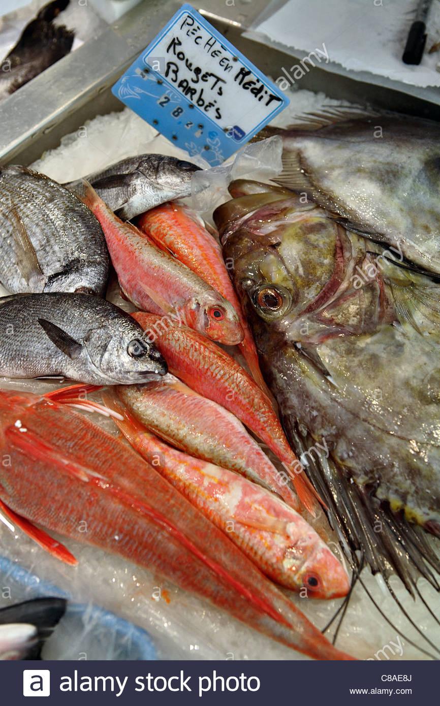 Fish stall - Stock Image