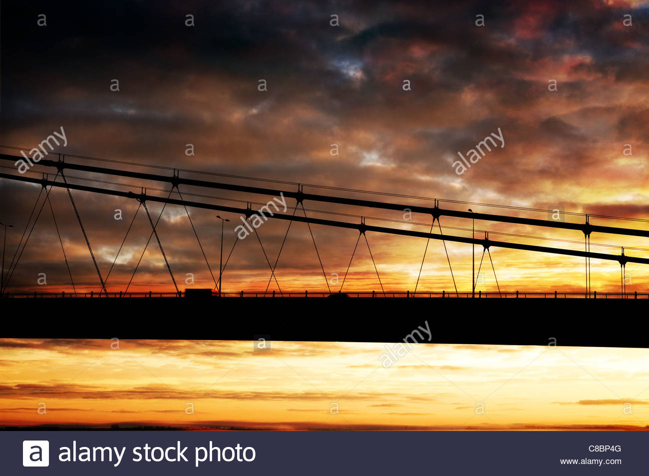 Humber bridge - Stock Image