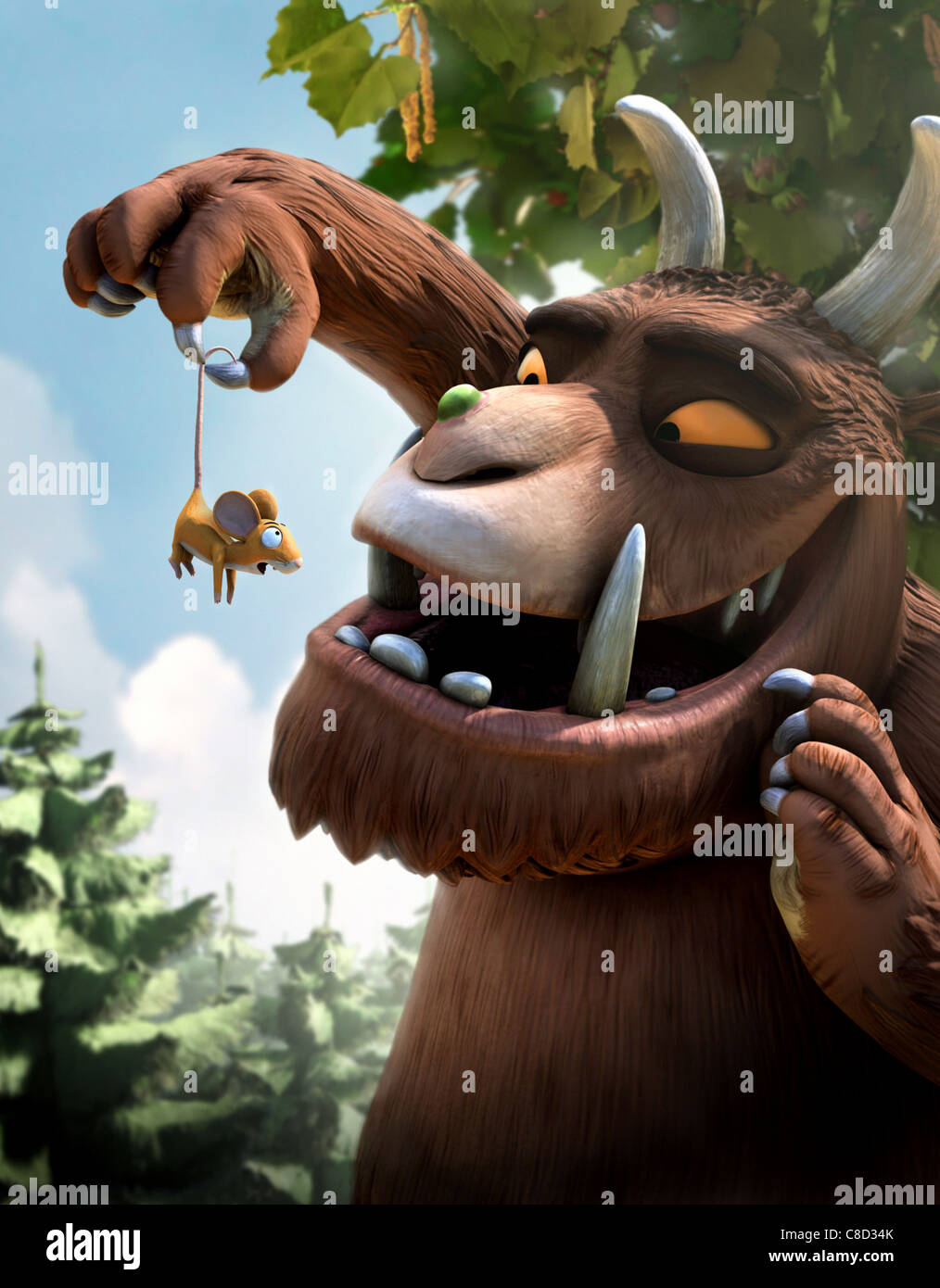 MOUSE & GRUFFALO THE GRUFFALO (2009)Stock Photo