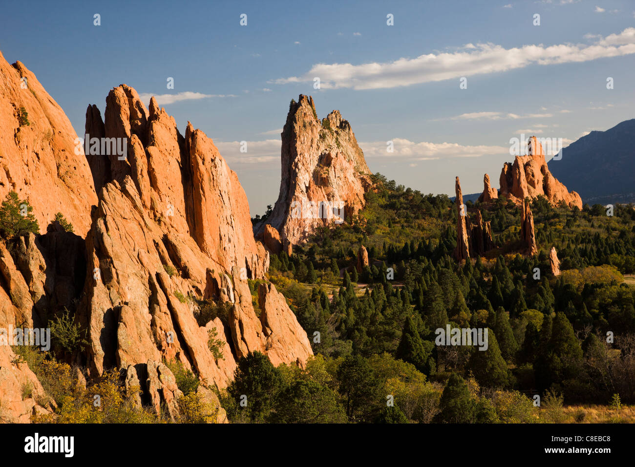 South Gateway Rock, Cathedral Spires and Three Graces, Garden of the ...