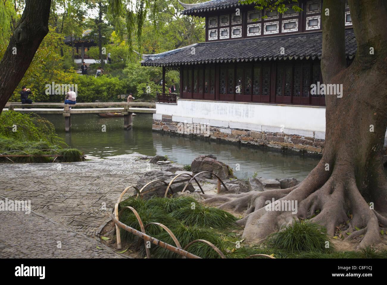 The Humble Administrator's Garden, UNESCO World Heritage Site, Suzhou, Jiangsu, China - Stock Image