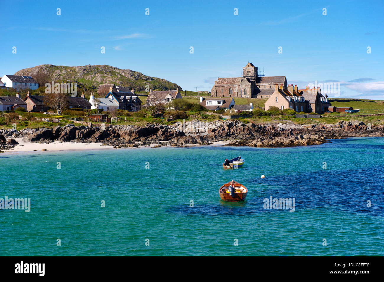 Iona Abbey, Isle of Iona, Inner Hebrides, Scotland, United Kingdom Stock Photo