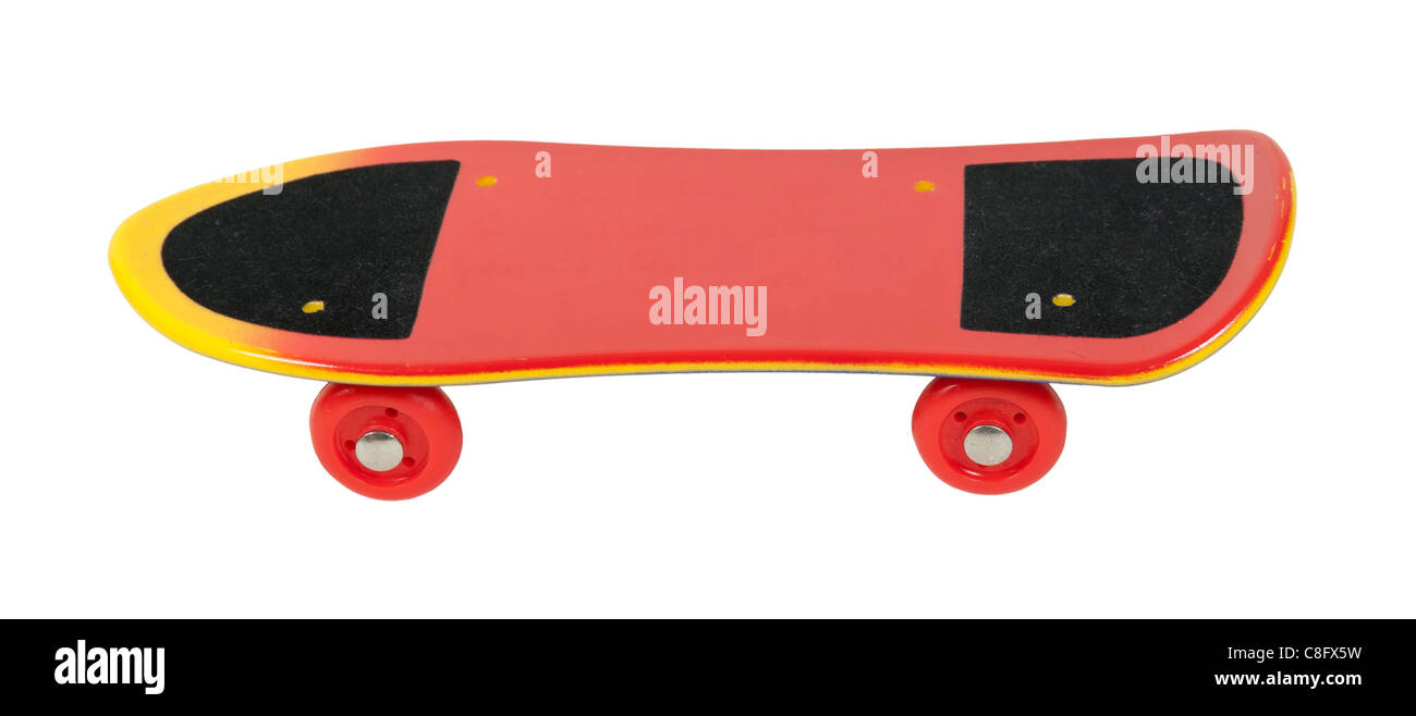 Skateboard used as simple transportation for young adults - path included - Stock Image