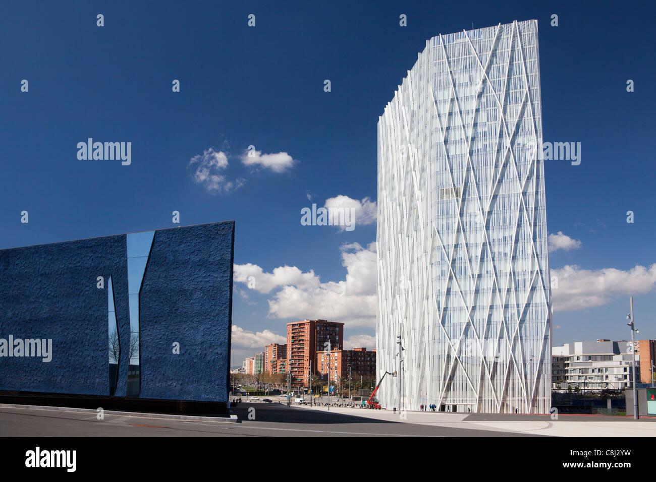 Spain, Europe, Catalunya, Barcelona, Diagonal Mar, buildings, architecture, modern, Forum - Stock Image
