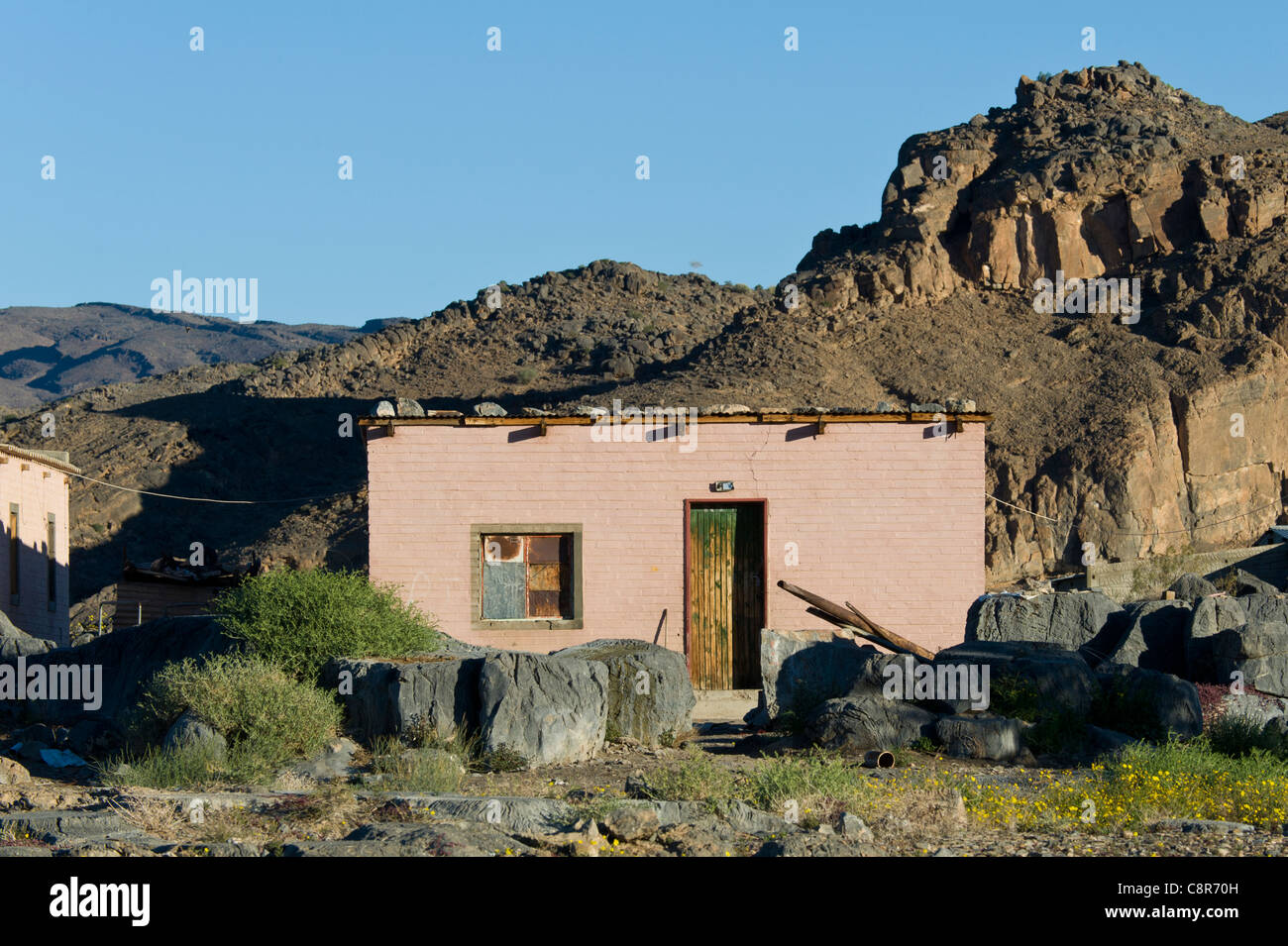 Farm workers house in Noordoewer Namibia - Stock Image