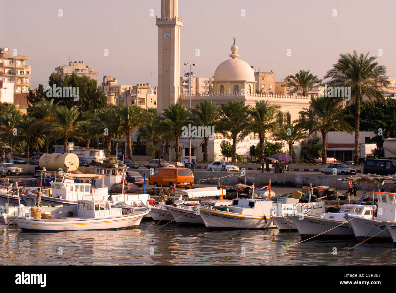 Port area (Al-Mina), Tripoli (Trablous), northern Lebanon. - Stock Image