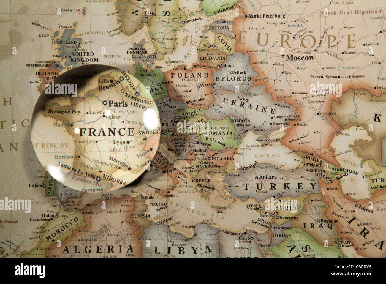 Close up of world map with crystal ball stock photo 39861674 alamy close up of world map with crystal ball gumiabroncs Images