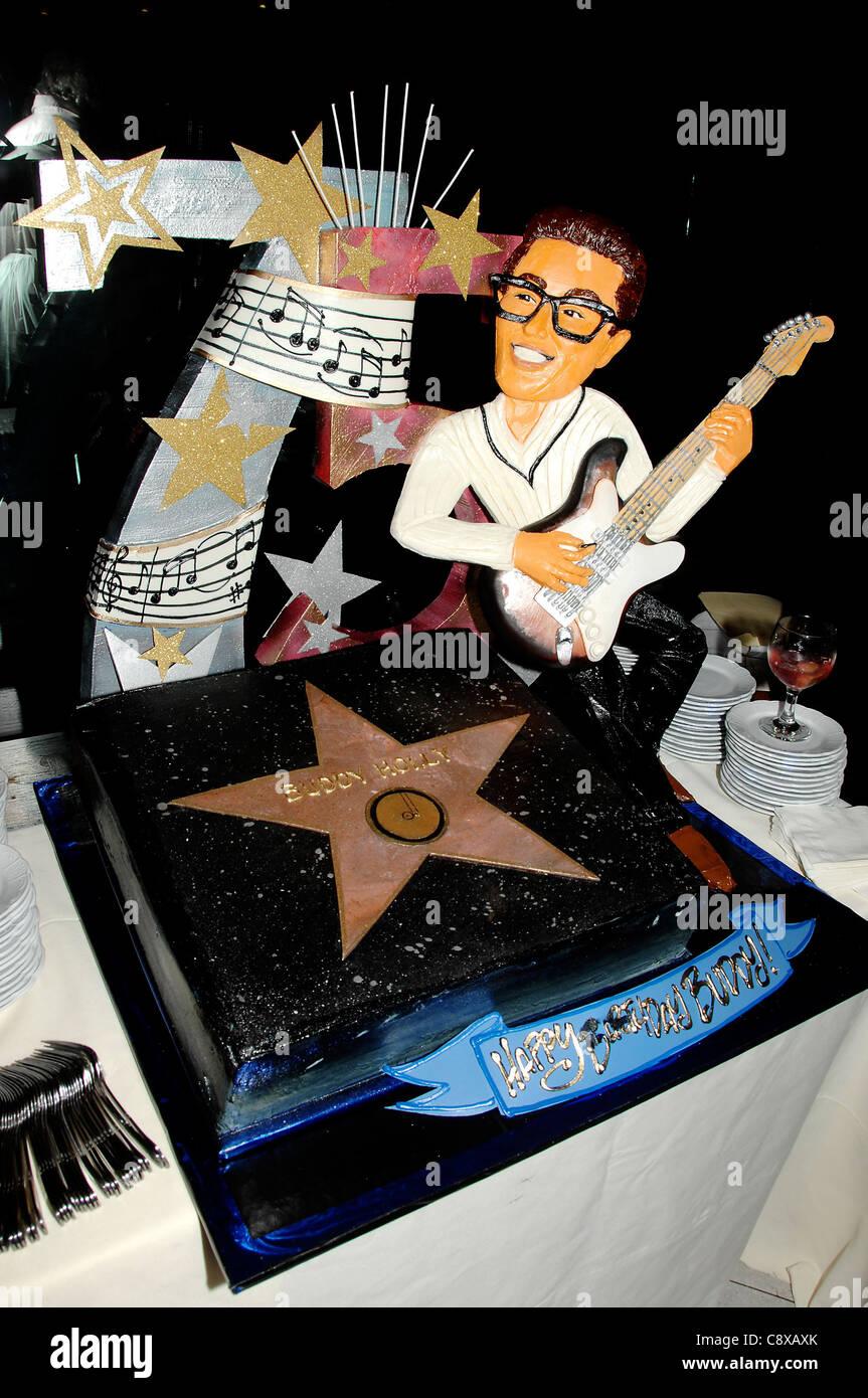 Buddy Holly 75th Birthday Cake Atinduction Ceremony Star Onhollywood