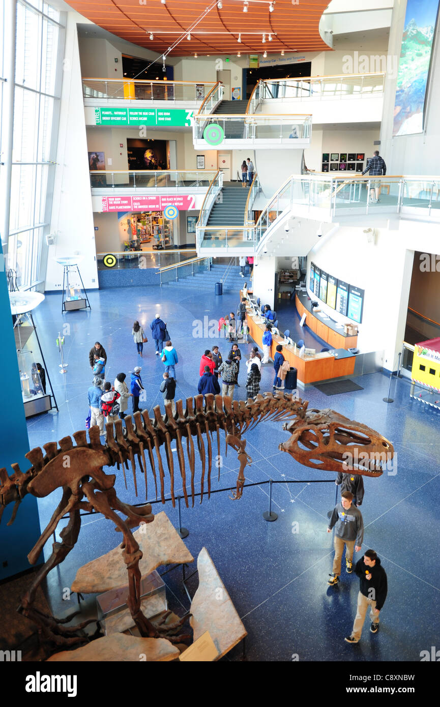 USA Maryland Baltimore Inner Harbor Chesapeake Bay MD interior of the Maryland Science Center MuseumStock Photo