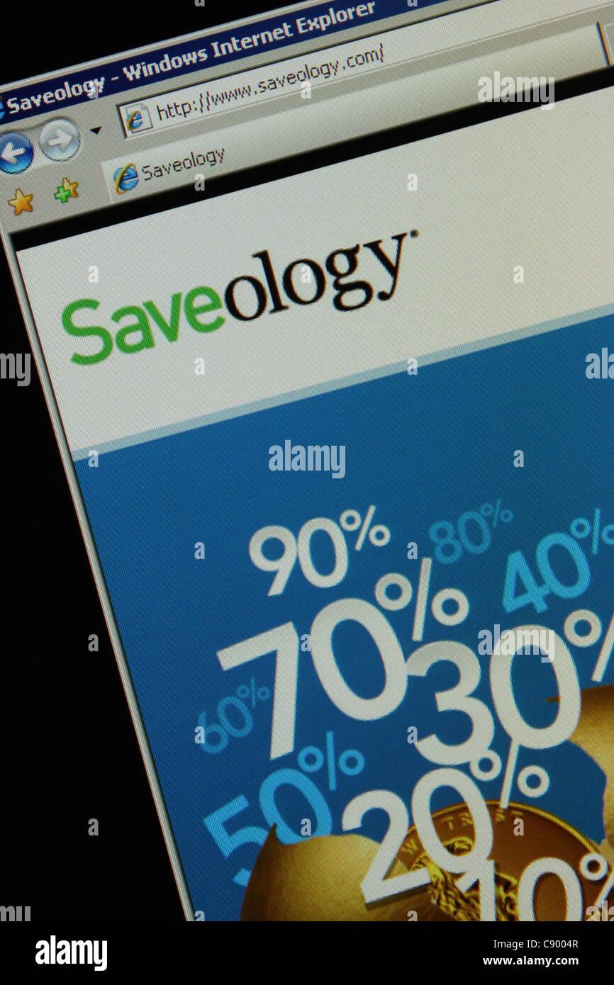 saveology saveology.com - Stock Image