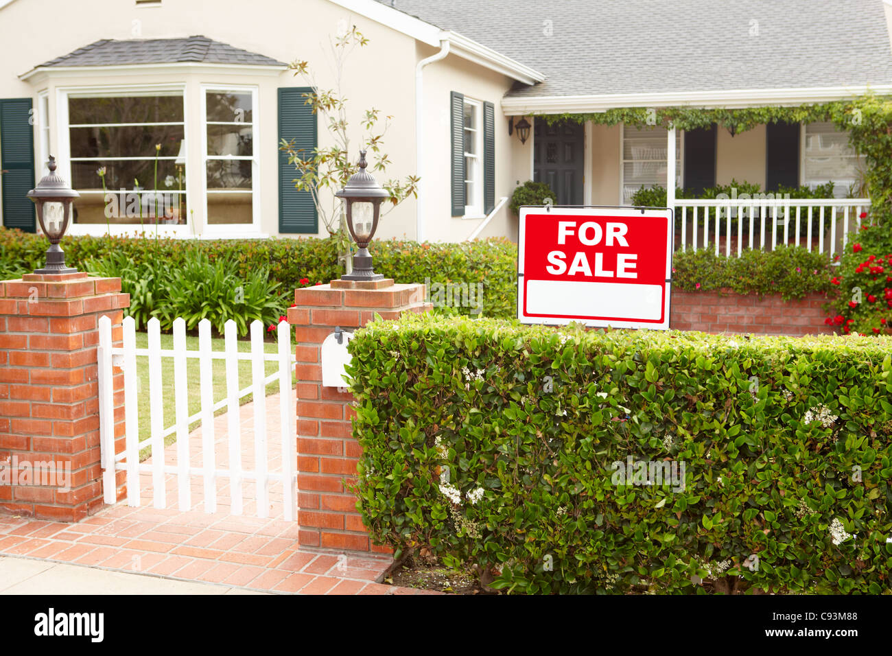 House for sale - Stock Image
