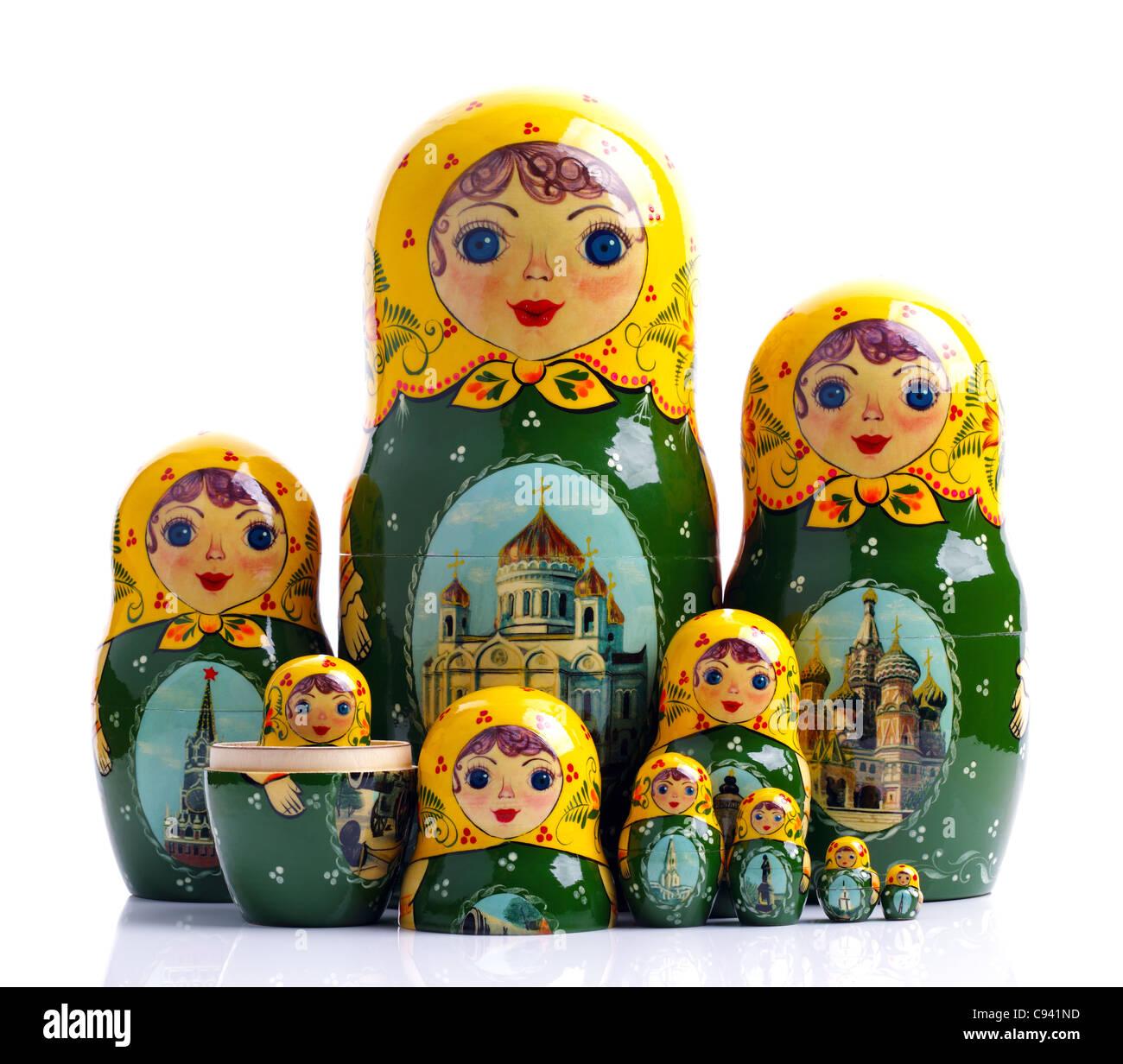 Matryoshka - Russian nested dolls - Stock Image