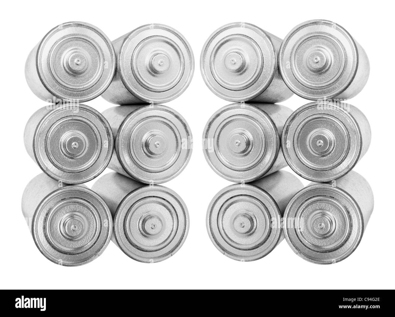 Stacks of Batteries - Stock Image
