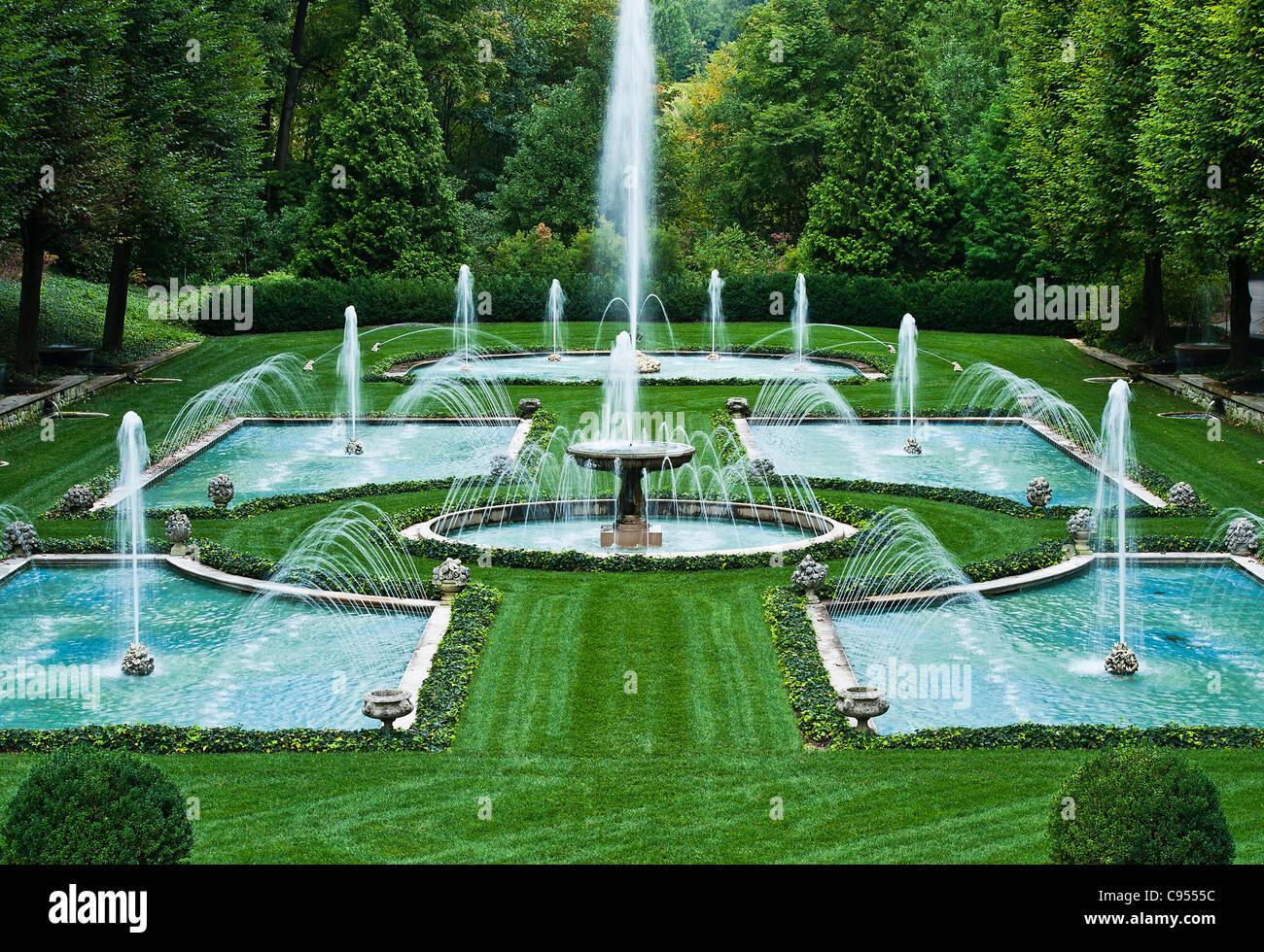 Italian Water Garden, Longwood Gardens, Pennsylvania, USA