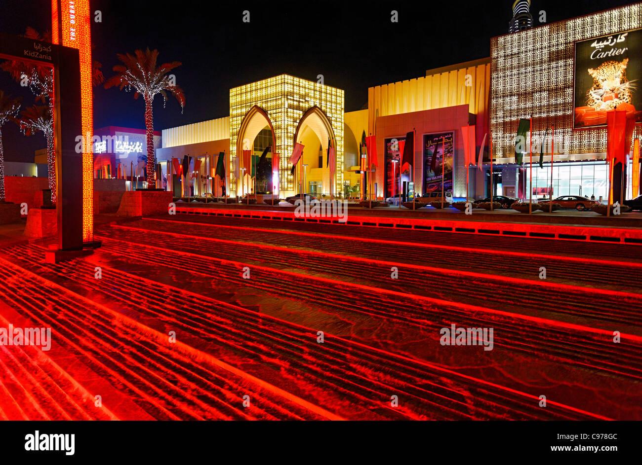 Main entrance of the DUBAI MALL, the world's largest mall, Downtown Dubai, Dubai, United Arab Emirates, Middle - Stock Image
