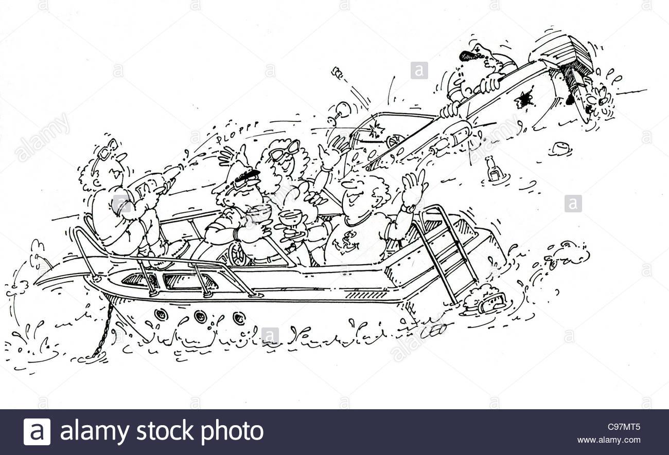funny seafaring joke funny Humor funny funny funny funny humorous Cartoon c - Stock Image