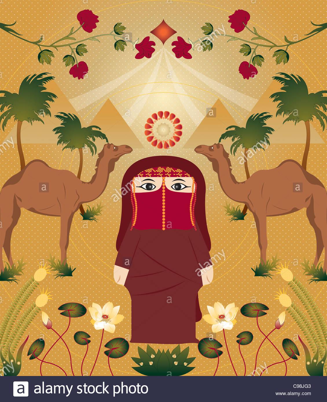 Hana in Egypt - Stock Image