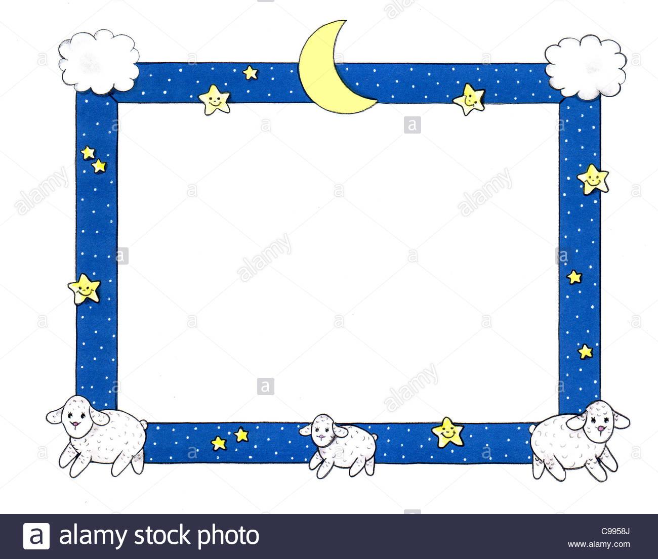 Series photo frames baby good night 3 night night nightly nightly ...
