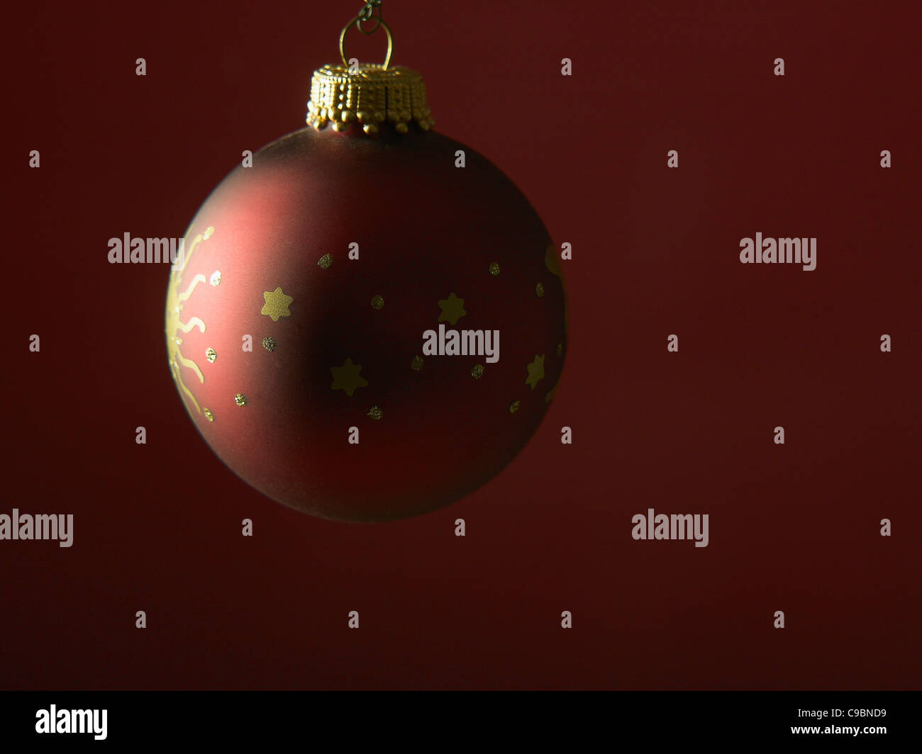 christmas bulb against red background stock photo 40210949 alamy
