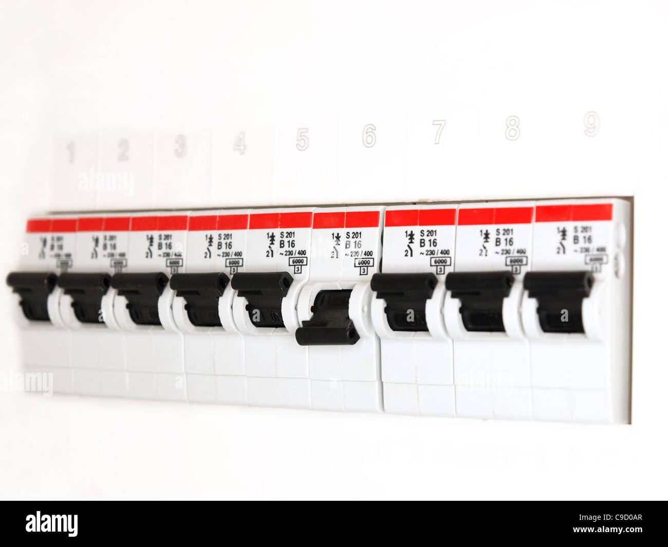 fuse box - Stock Image