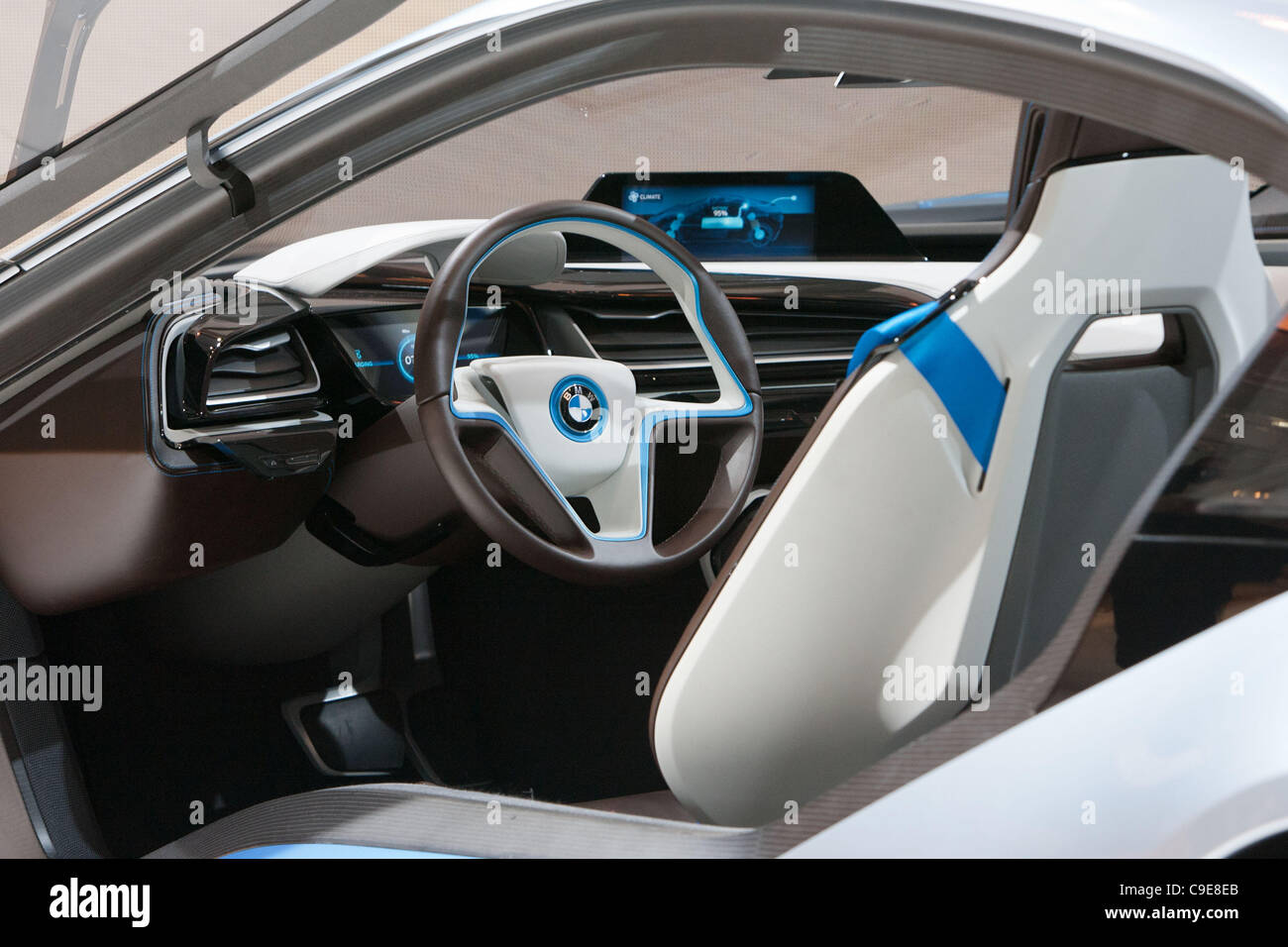 December 30 2011 Tokyo Japan The Interior Of Bmw S I8 Concept
