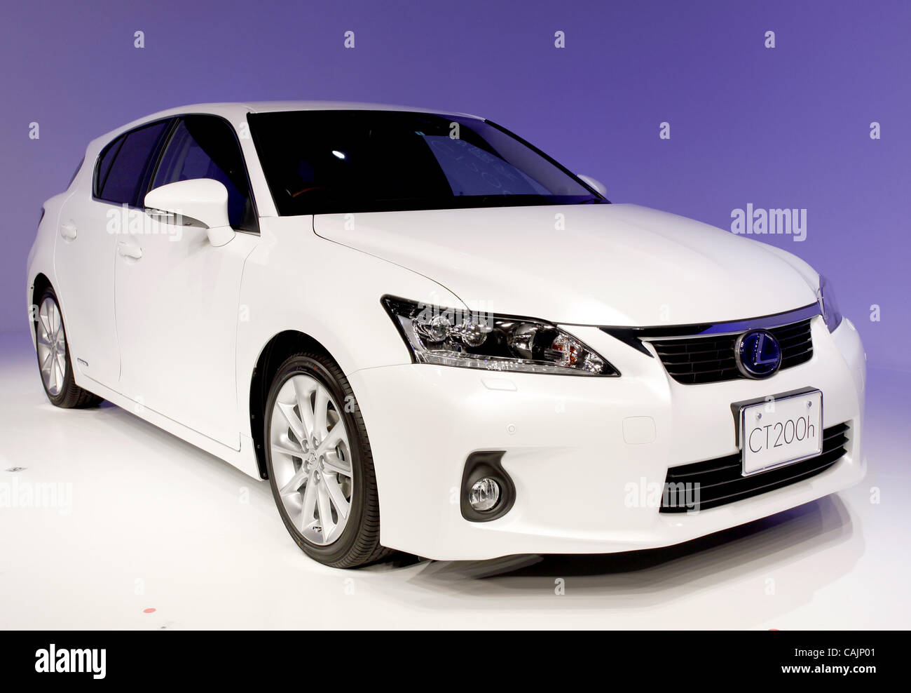 Jan. 12, 2011 - Tokyo, Japan - TOYOTA Motor Corporation's newly introduced car ''LEXUS CT200h'' - Stock Image