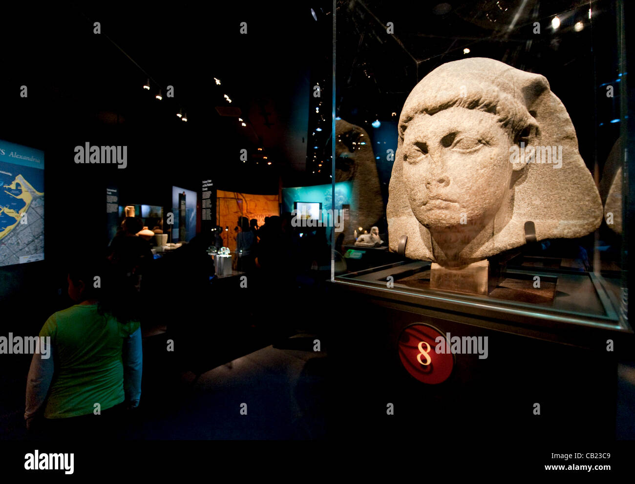 May 22, 2012 - Los Angeles, California, USA -  A colossal head of Caesarion (Little Caesar), the son of Cleopatra Stock Photo