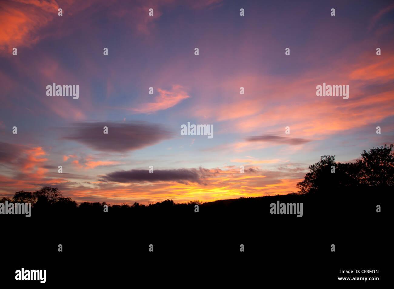 sunset-over-arun-valley-CB3M1N.jpg