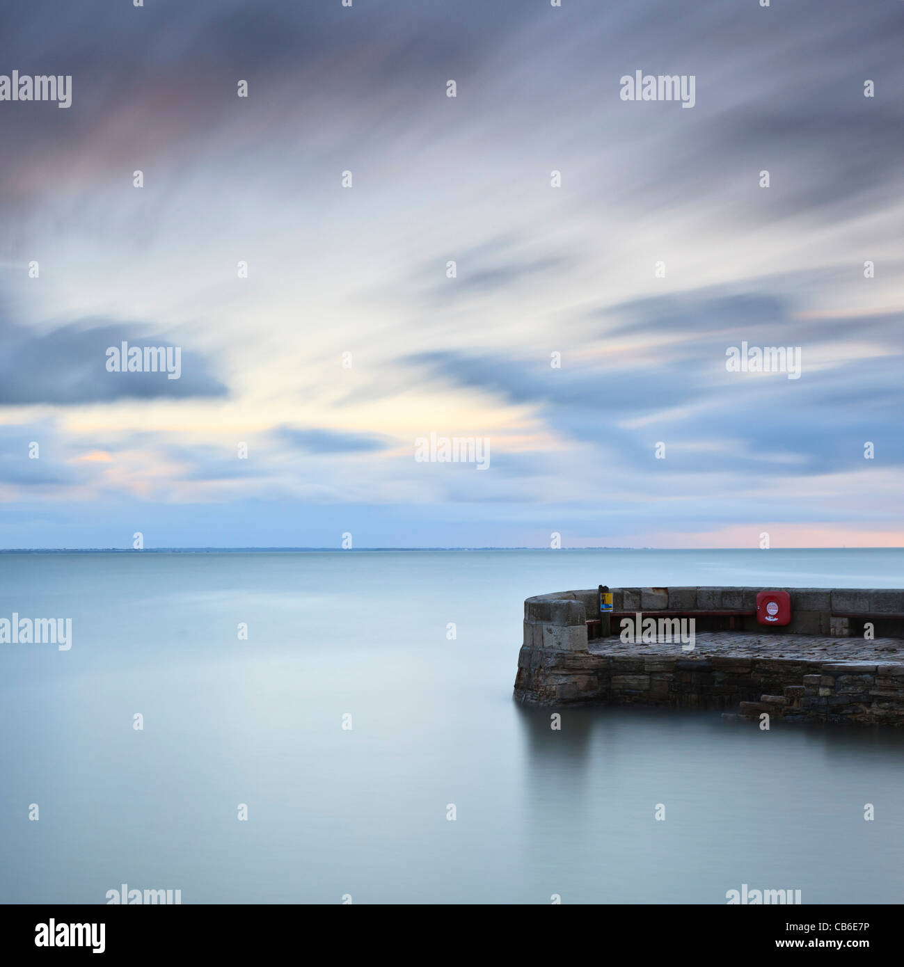 Dawn, The Stone Quay, Swanage, Dorset, UK - Stock Image