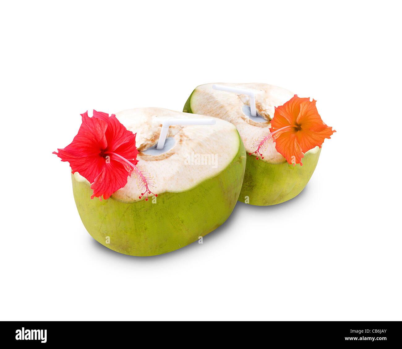 Coconut drinks - Stock Image