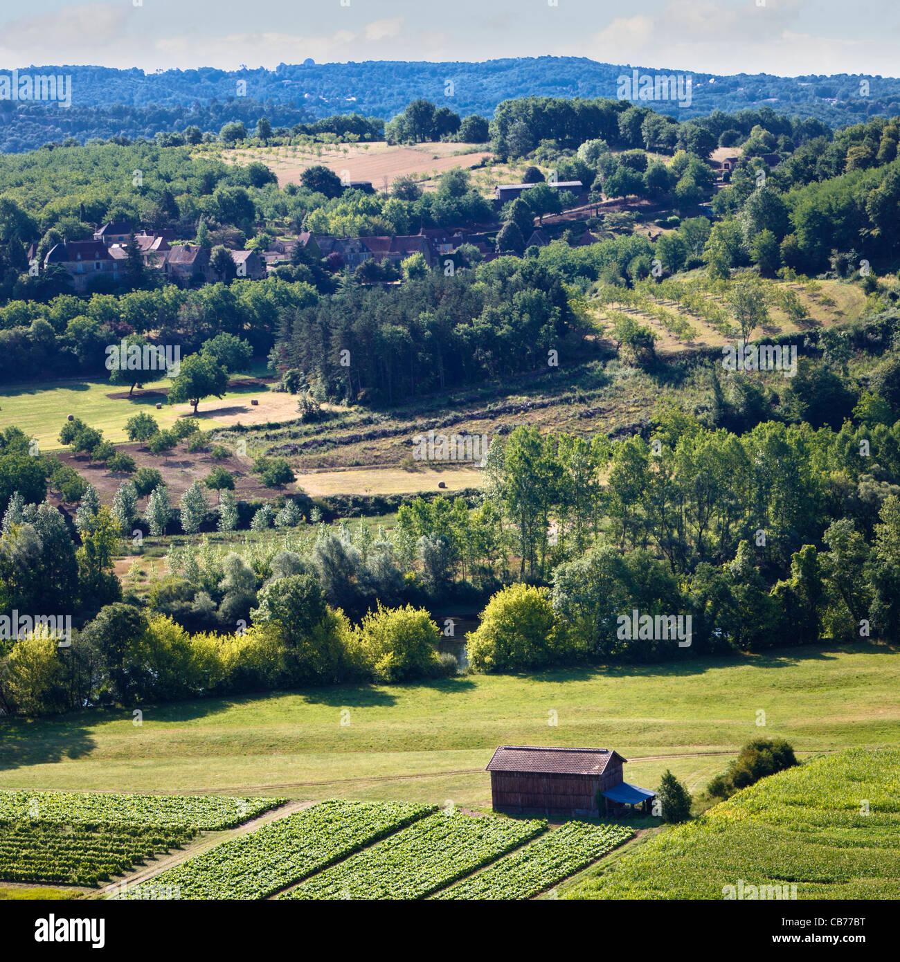 Countryside France - Dordogne - Stock Image