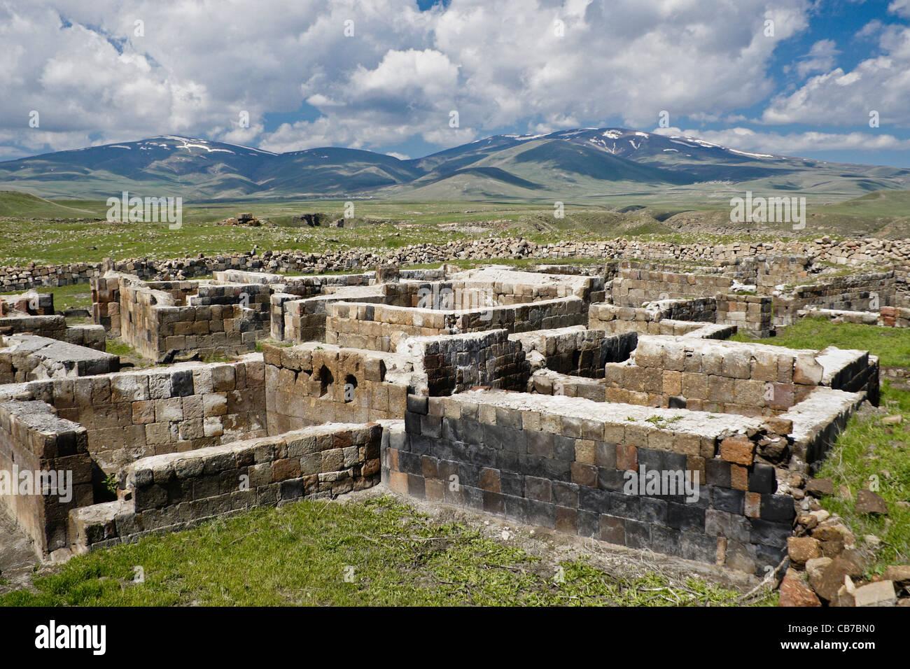 Ruins at Ani, Eastern Anatolia, Turkey Stock Photo