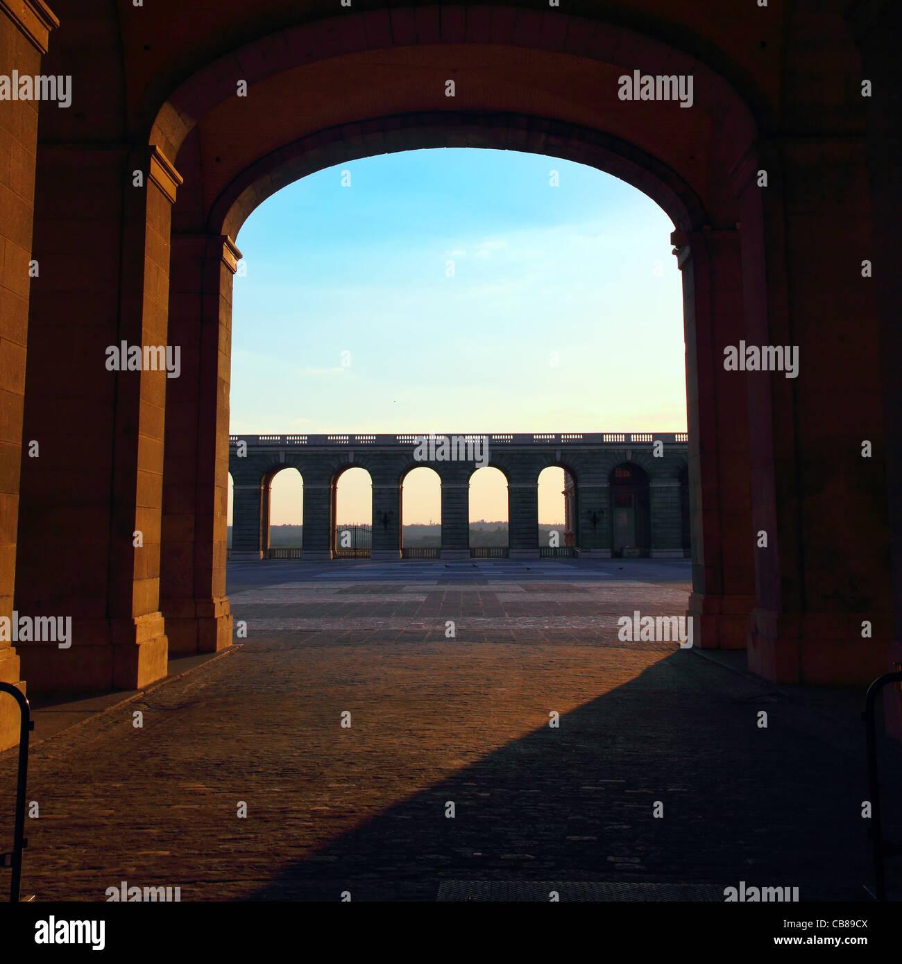 open door in palacio de oriente in madrid - Stock Image