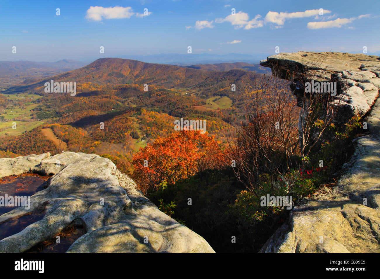 McAfee Knob, Appalachian Trail, Roanoke, Virginia, USA Stock Photo