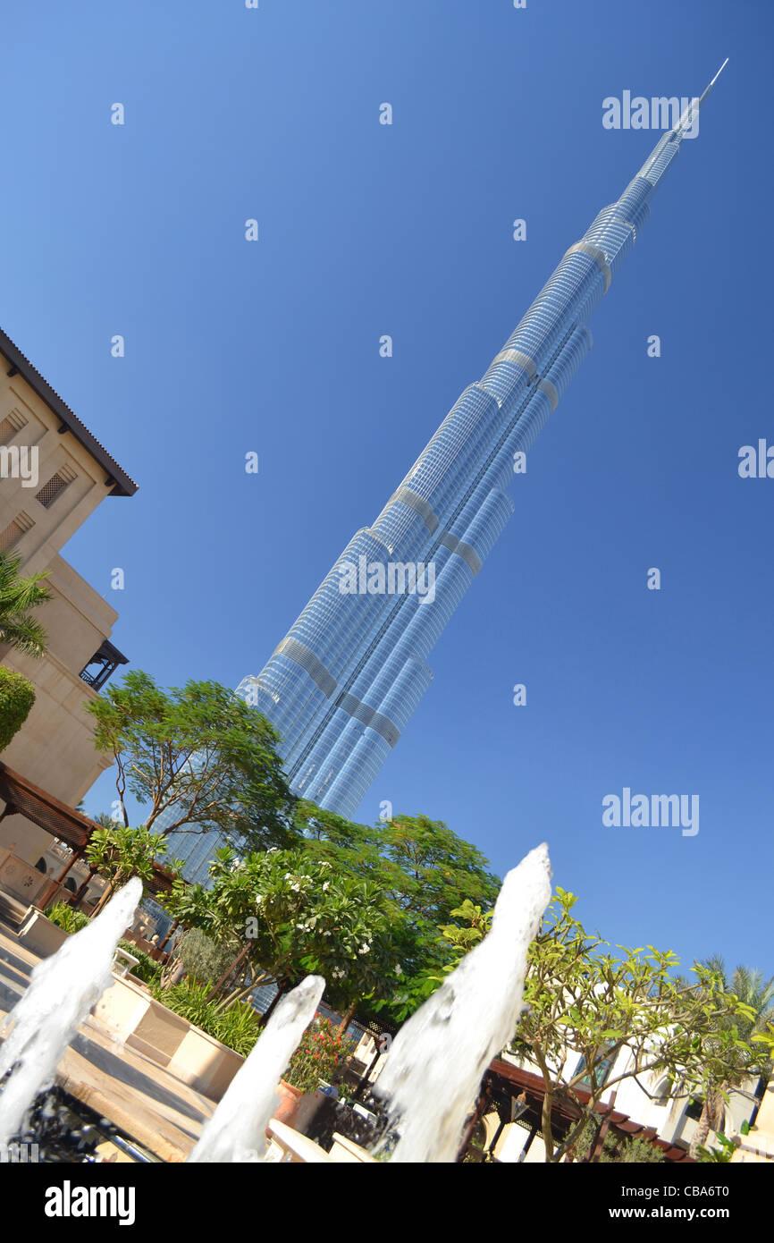 The Burj Khalifa, Dubai, UAE, United Arab Emirates - Stock Image