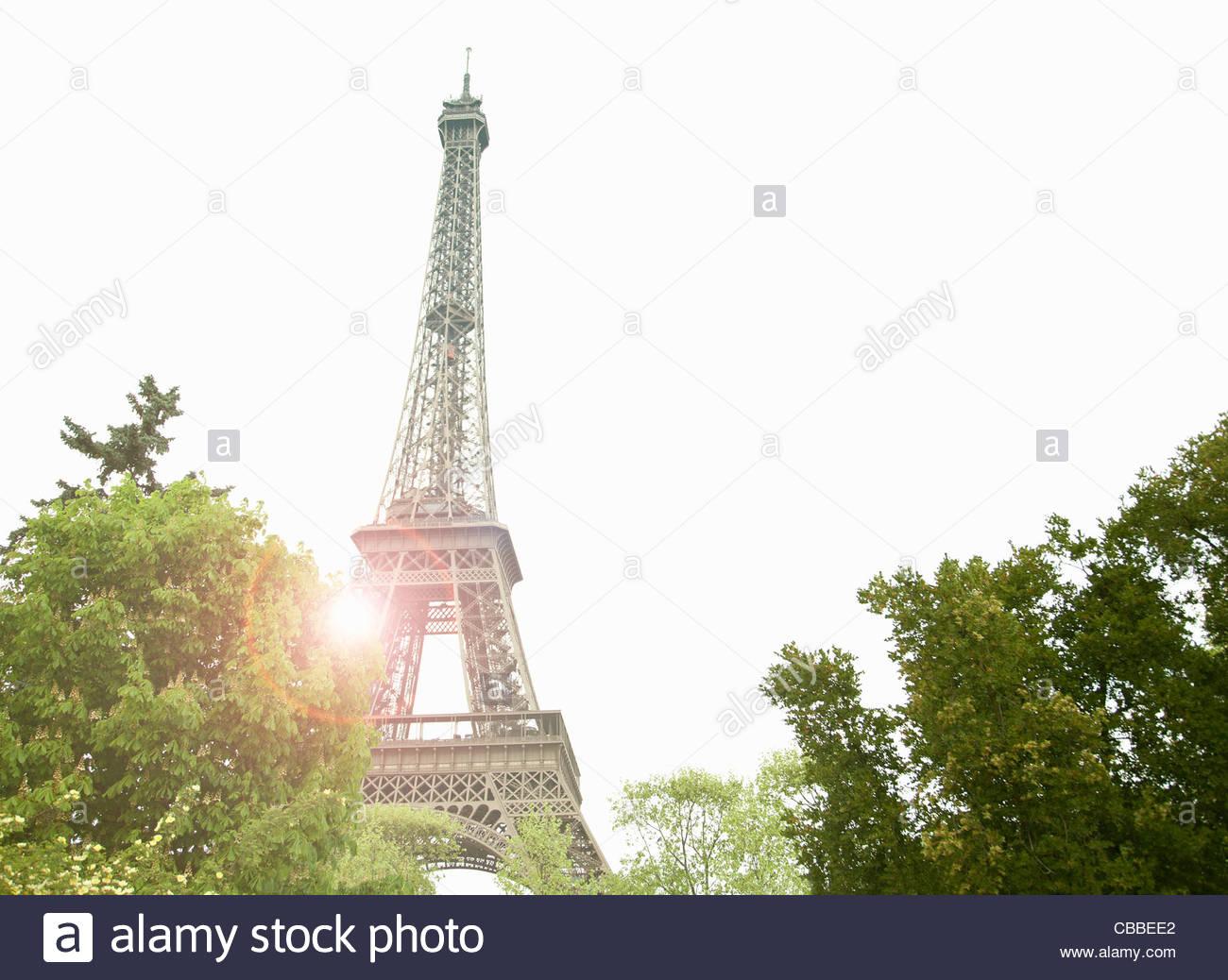 Eiffel Tower in Paris - Stock Image