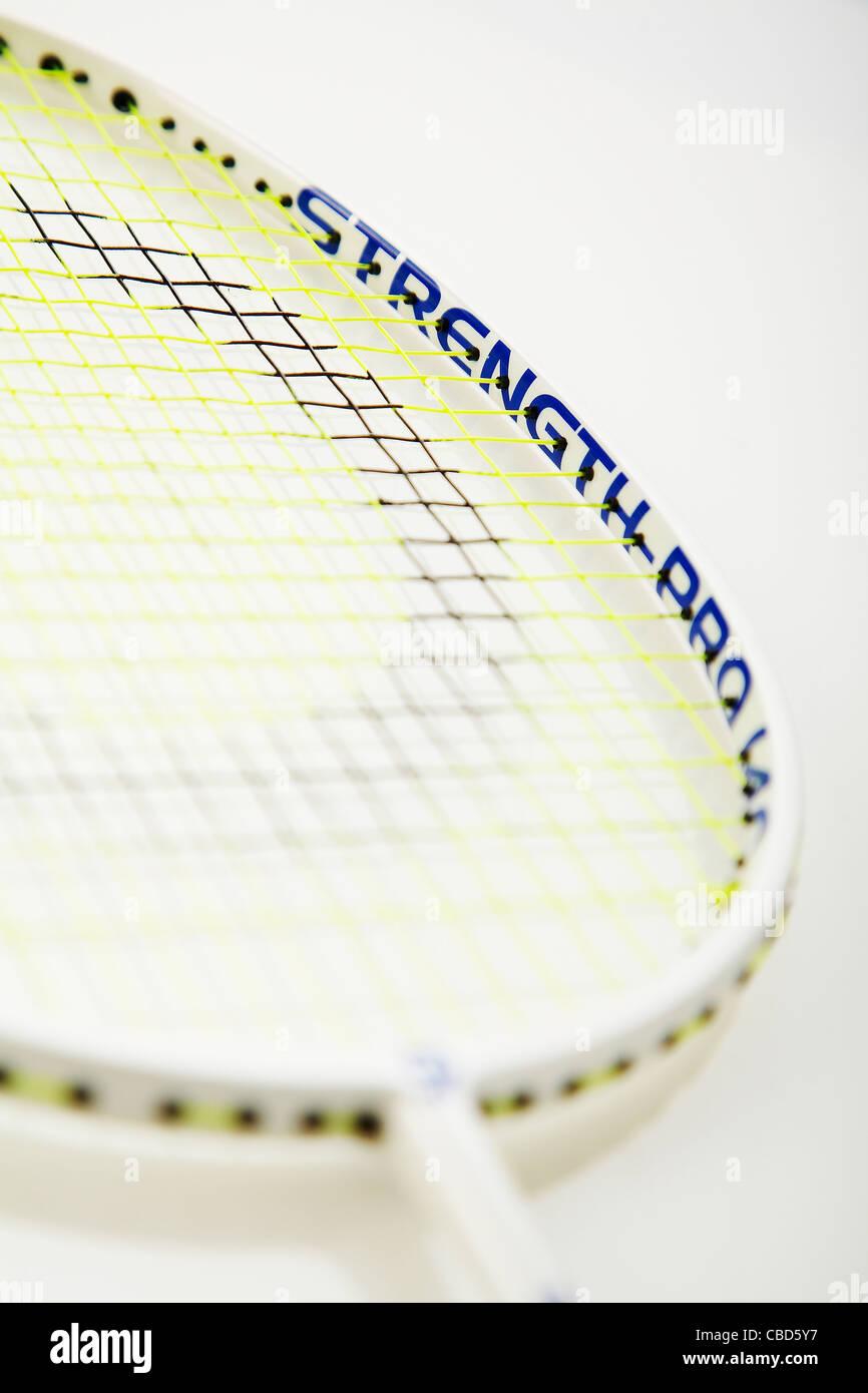 Studio shot of Badminton racket - Stock Image