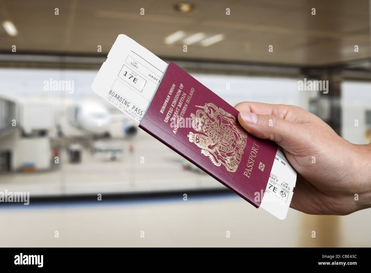 Checking in for a flight at the airport Stock Photo